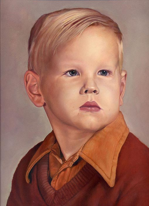 """You Must Have Been A Beautiful Baby"" Portrait Exhibition Entry"